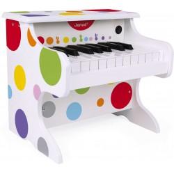 JANOD detský drevený klavír bodkovaný