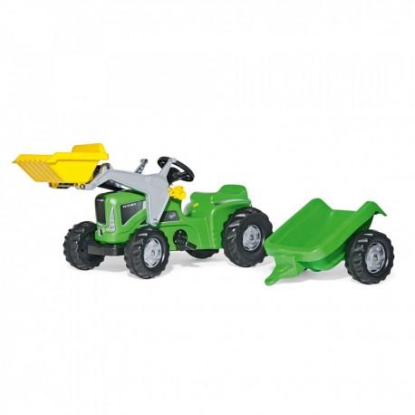 Rolly Toys Detský šlapací traktor Kiddy Futura s vlečkou a lyžicou