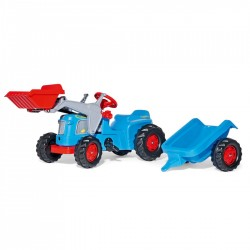 Rolly Toys Detský šlapací traktor Kiddy Classic s vlečkou a lyžicou