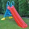 DOREX Detská šmýkačka 200 cm - červená s modrými schodíkmi