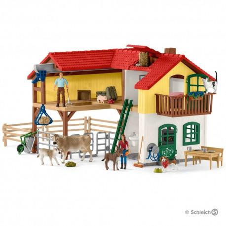 Schleich 42407 Veľký statok so stodolou a doplnkami
