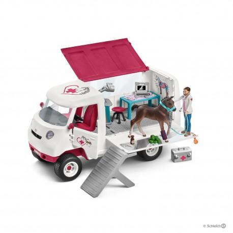 Schleich 42370 Mobilná veterinárna klinika s kobylou a ošetrovateľom