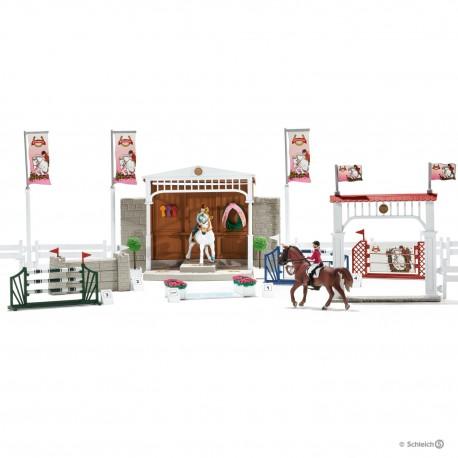 Schleich 42338 Veľké parkurové závodisko s koňmi