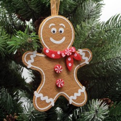 Ozdoba na vianočný stromček z filcu - medovník chlapček