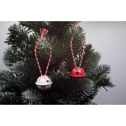 IMP-EX Vianočné ozdoby na zavesenie  - roľničky 24 kusov - biele a červené