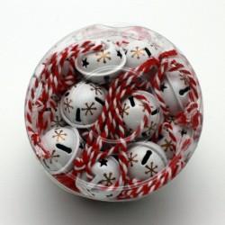 IMP-EX Vianočné ozdoby na zavesenie  - roľničky 24 kusov - biele