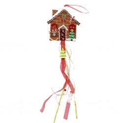 IMP-EX Vianočná dekorácia na zavesenie z filcu - medovníková chalúpka