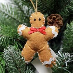 IMP-EX Ozdoba na vianočný stromček z filcu - medovník chlapček