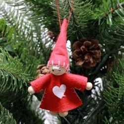 IMP-EX Ozdoba na vianočný stromček z filcu - chlapček s čiapkou