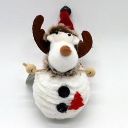 IMP-EX Vianočná ozdoba na zavesenie - sobík biely