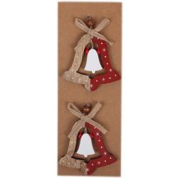 IMP-EX Drevené ozdoby na vianočný stromček 2 ks - zvončeky