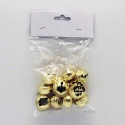 IMP-EX Vianočné ozdoby na zavesenie  - roľničky 12 kusov - zlaté