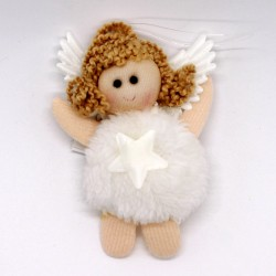 IMP-EX Vianočná ozdoba na zavesenie - anjelik s hviezdičkou