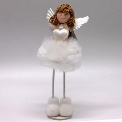 IMP-EX Vianočná dekorácia - stojaci anjelik so srdiečkom