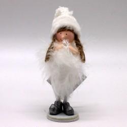IMP-EX Vianočná dekorácia - stojaci anjelik s vločkou
