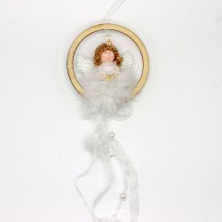 IMP-EX Vianočná ozdoba na zavesenie do okna alebo na dvere - anjelik