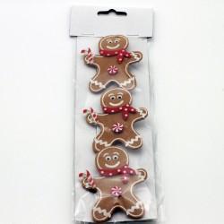 IMP-EX Vianočné ozdobné štipce 3 ks - medovníky z filcu