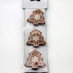 IMP-EX Vianočné ozdobné štipce 3 ks - stromčeky z filcu
