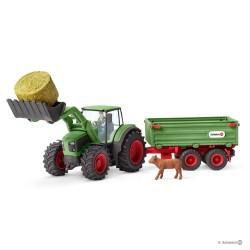 Schleich 42379 traktor s vlečkou a doplnkami