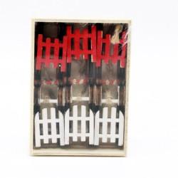 IMP-EX Drevené vianočné ozdoby na zavesenie 6 ks - sánky malé - biele a červené