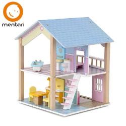 Mentari Drevený domček pre bábiky - obojstranný