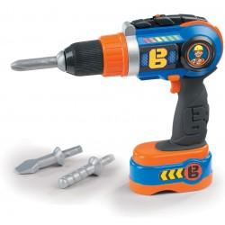 SMOBY Bob the Builder detská mechanická vŕtačka s 3 nadstavcami