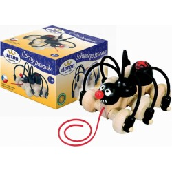 DETOA Drevená hračka na ťahanie - Pavúk