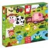 JANOD Detské dotykové puzzle Zvieratká na farme