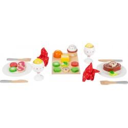 Legler Drevené potraviny Dinner Set - Večera