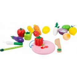 Legler Drevené potraviny na krájanie s magnetmi - ovocie a zelenina