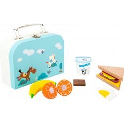 Legler Drevené potraviny Snack Set v kufríku
