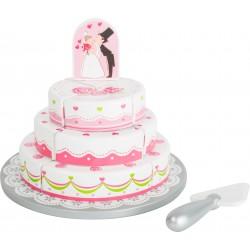 Legler Drevená poschodová svadobná torta na krájanie