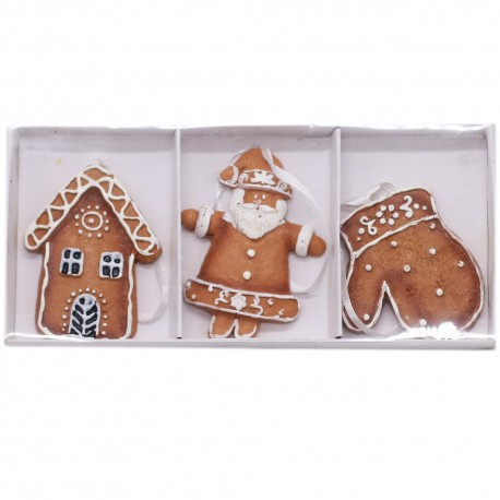 IMP-EX Keramické vianočné ozdoby na zavesenie 3 ks