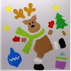 IMP-EX Vianočné ozdoby - želé nálepky na okno - XL sob