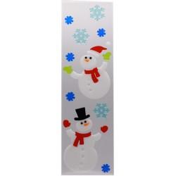 IMP-EX Vianočné ozdoby - želé nálepky na okno - XL snehuliaci