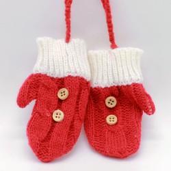 IMP-EX Vianočné ozdoby na zavesenie - štrikované rukavičky - 1 pár