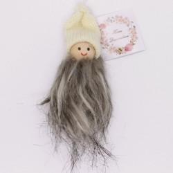 IMP-EX Vianočná ozdoba na zavesenie - chlapček v bielej čiapke