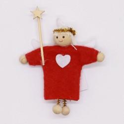 IMP-EX Vianočná ozdoba na zavesenie - anjelik s paličkou