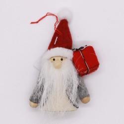 IMP-EX Vianočná ozdoba na zavesenie - Mikuláš s darčekom