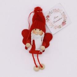 IMP-EX Vianočná ozdoba na zavesenie - anjelik v červenej čiapke