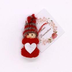 IMP-EX Vianočná ozdoba na zavesenie - chlapček v pruhovanej čiapke