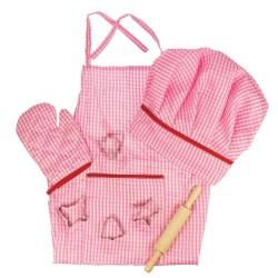 Detská 8-dielna sada oblečenia pre kuchárku - ružová
