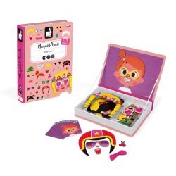 JANOD detská magnetická kniha Výzor dievčaťa
