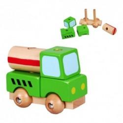 Drevené skladacie autíčko - zelené