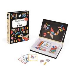 JANOD detská magnetická kniha Farebné obrazce Moduloform