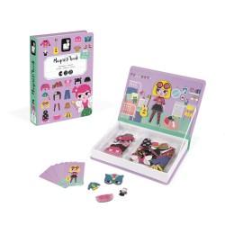 JANOD detská magnetická kniha Oblečenie pre dievča