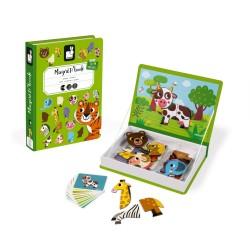 JANOD detská magnetická kniha Zvieratká