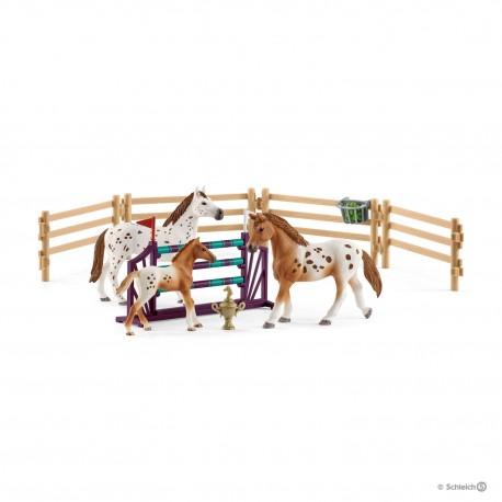 Schleich 42433 Set appaloské kone a príslušenstvo