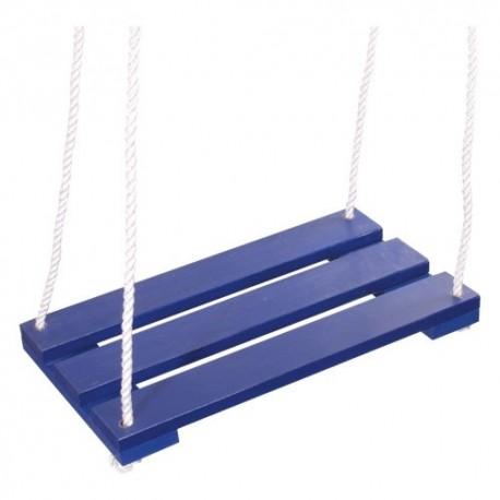 Detská drevená hojdačka - modrá