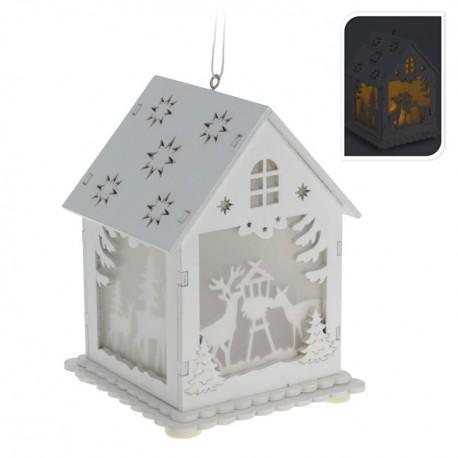 Drevený svietiaci domček - Jeleň a srnka